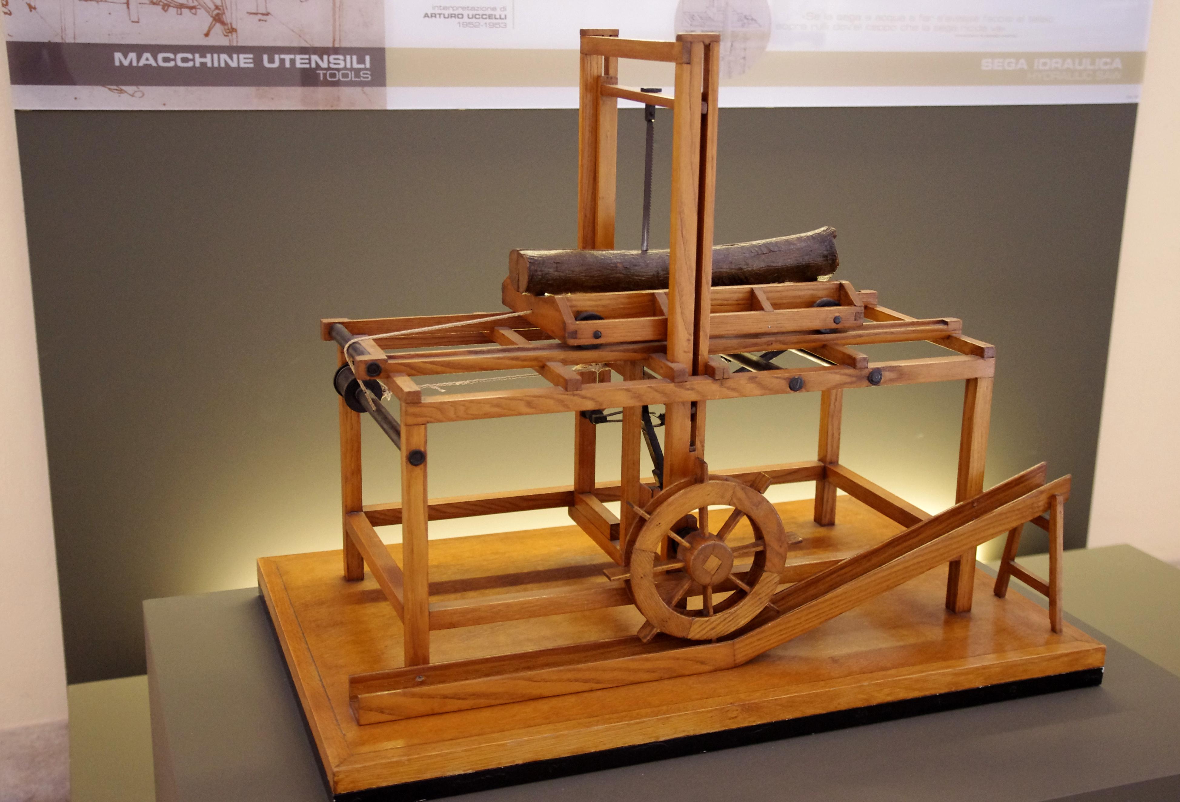 A Picture Of Da Vinci S Hydraulic Saw Designed