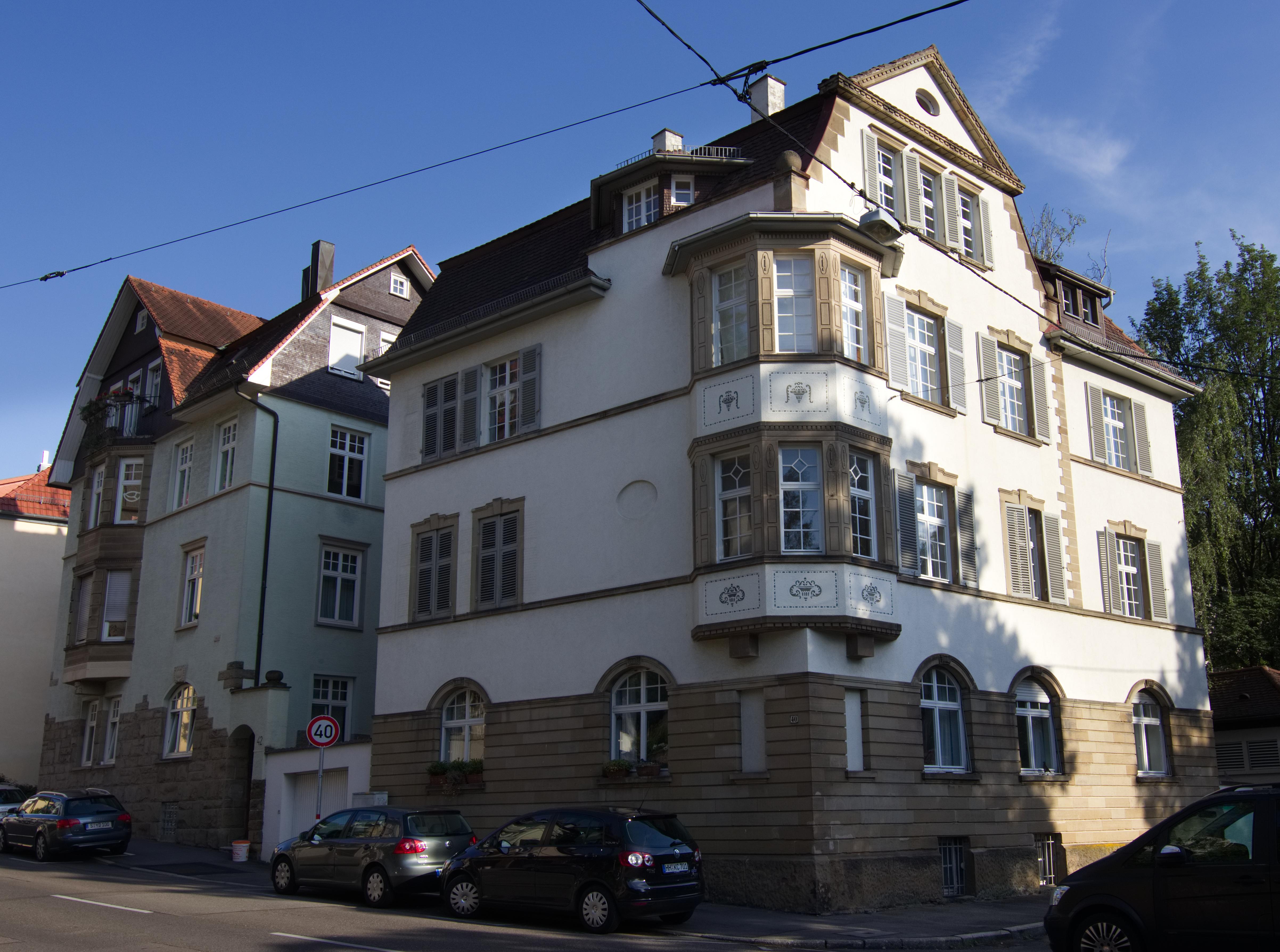 Bauunternehmer Stuttgart file 20170706 stuttgart sonnenbergstraße 40 42 jpg wikimedia