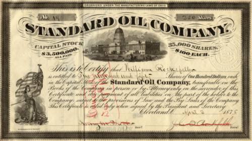 Купон Standard Oil (1887 год)