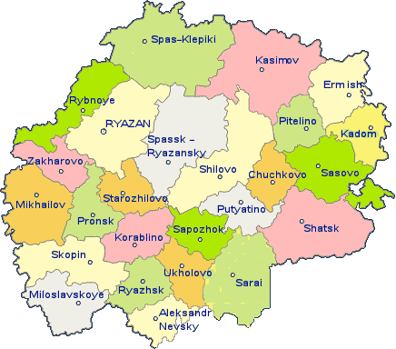 Administrative divisions of Ryazan Oblast