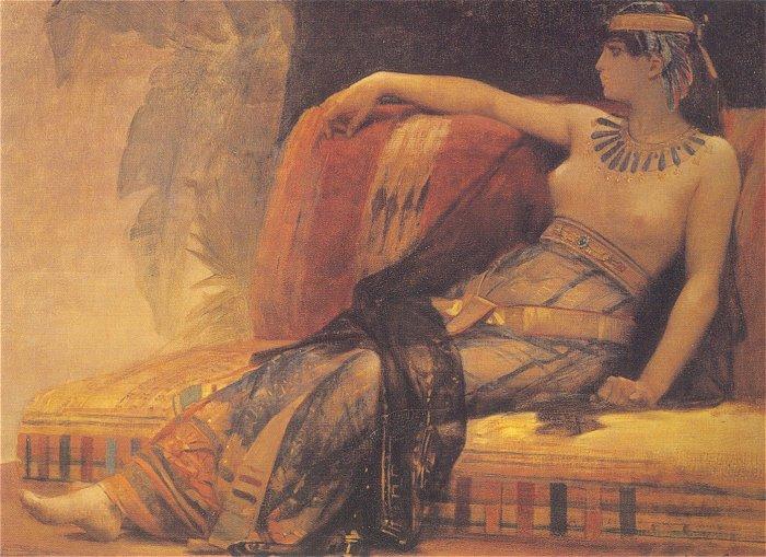 Cléopâtre (étude) by Alexandre Cabanel, at the Musée des Beaux-Arts - Béziers. Image available on Wikimedia Commons.