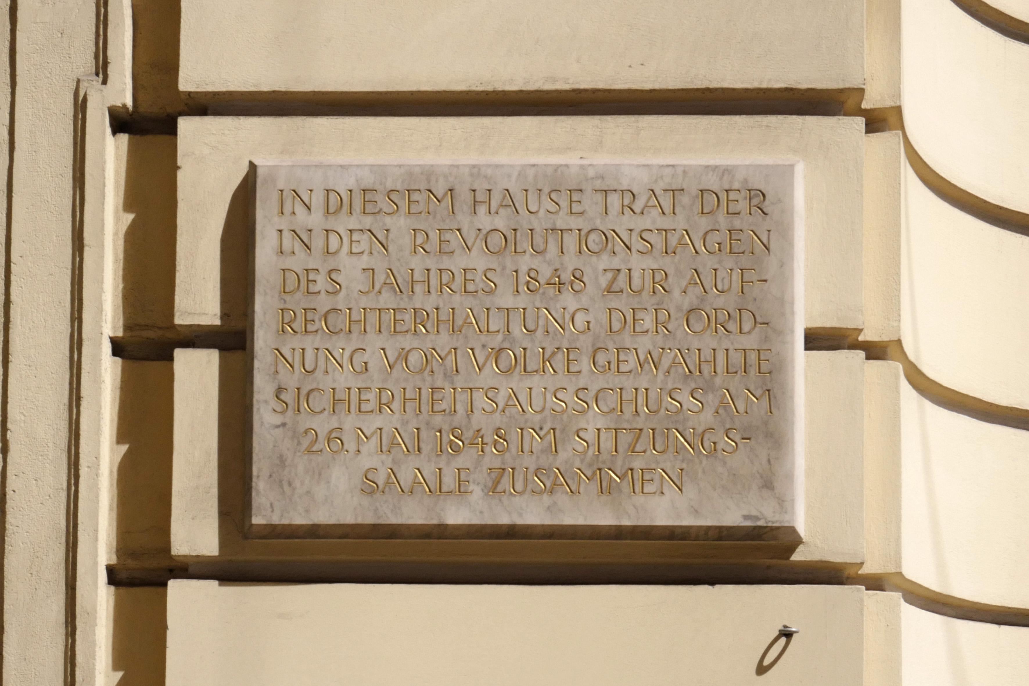 Altes Rathaus, Vienna - GT 26.Mai 1848.jpg