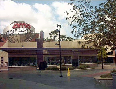 A typical AMC Theatres megaplex with 30 screens at the Ontario Mills in Ontario, California.