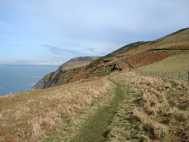 An easier section of the Ceredigion Coastal Path - geograph.org.uk - 1168035