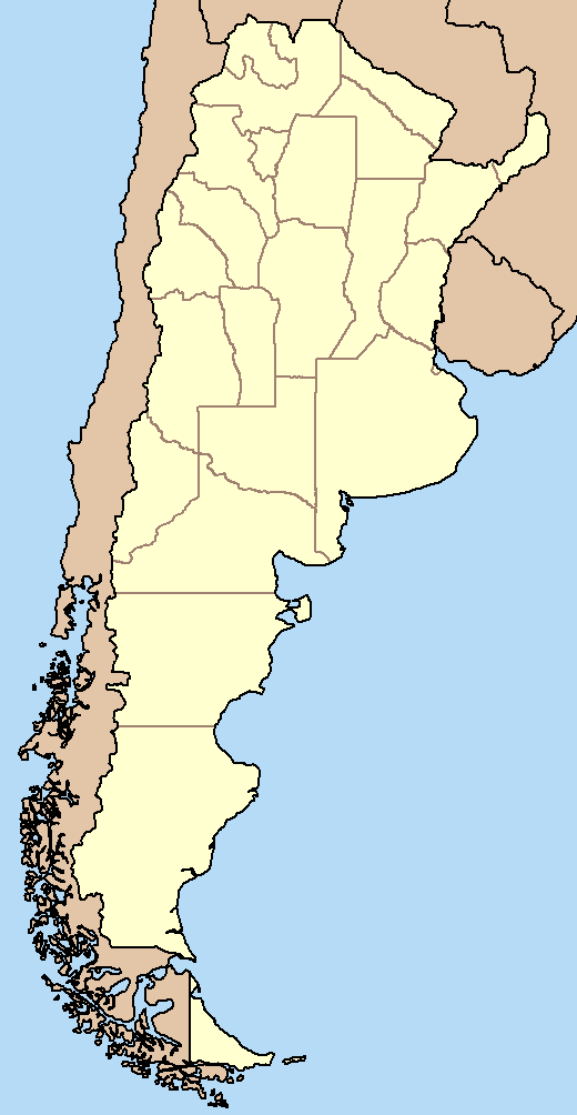 Argentina Map Of Provinces - Argentina map with provinces