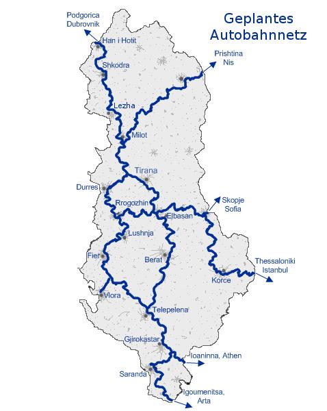 albánia térkép Albánia autótérképek   online egyszerűen kezelhető interaktív  albánia térkép