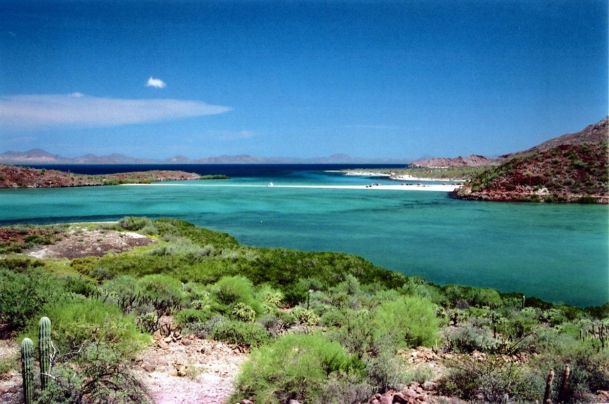 Vista de la Bahía de Concepción en Baja California Sur