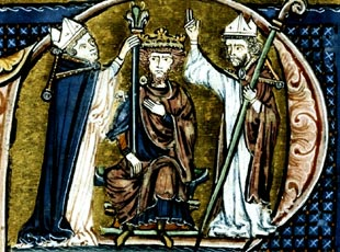 Baldwin I of Jerusalem, son and brother of Counts of Boulogne, ruled the Holy Land in the 11th century. Baldwin 1 of Jerusalem.jpg