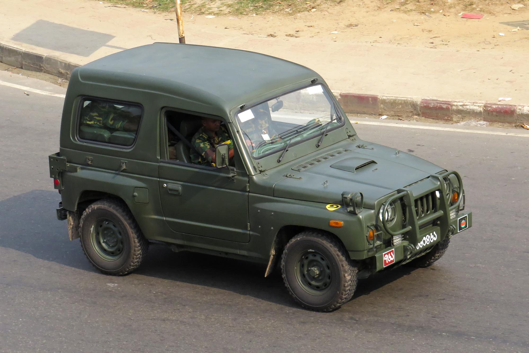 File Bangladesh Army Kia Km420 Light Utility Vehicle Jpg