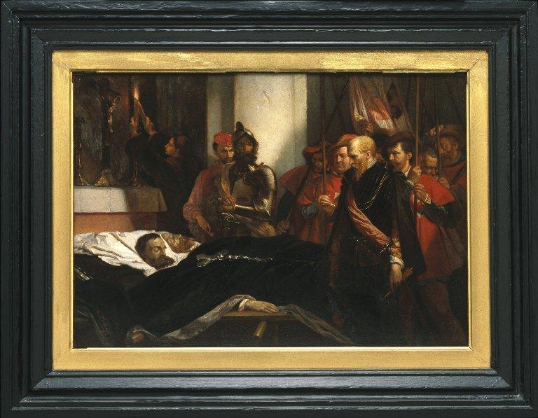 File:Brooklyn Museum - The Last Honors to Counts Egmont and Hoorne, reduction (Les derniers honneurs rendus aux Comtes d'Egmont et d'Hornes, réduction) - Louis Gallait - overall.jpg