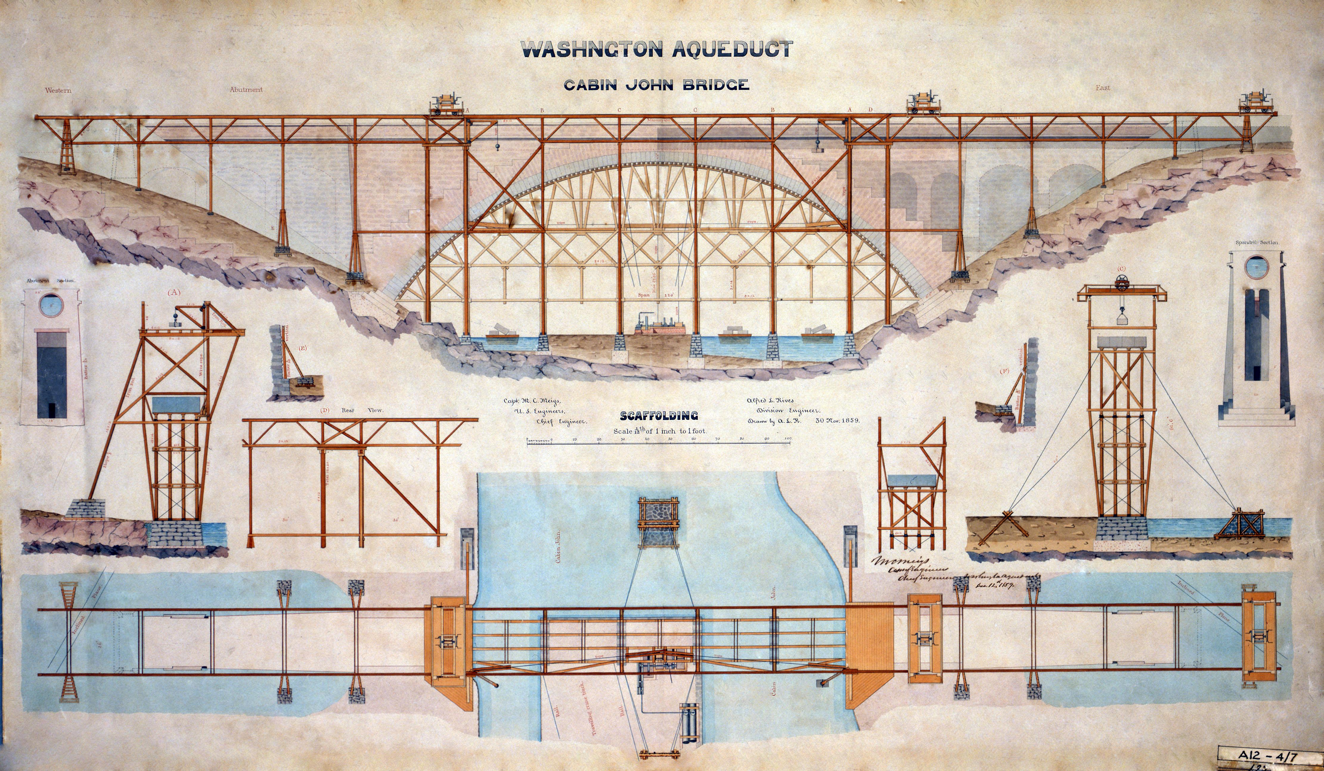 File:Cabin John Bridge MD aka Union Arch drawing 1859.jpg ...