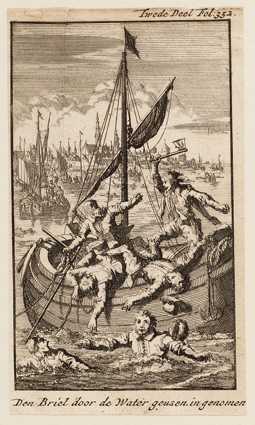 Capture of Brill in 1572 by Jan Luyken