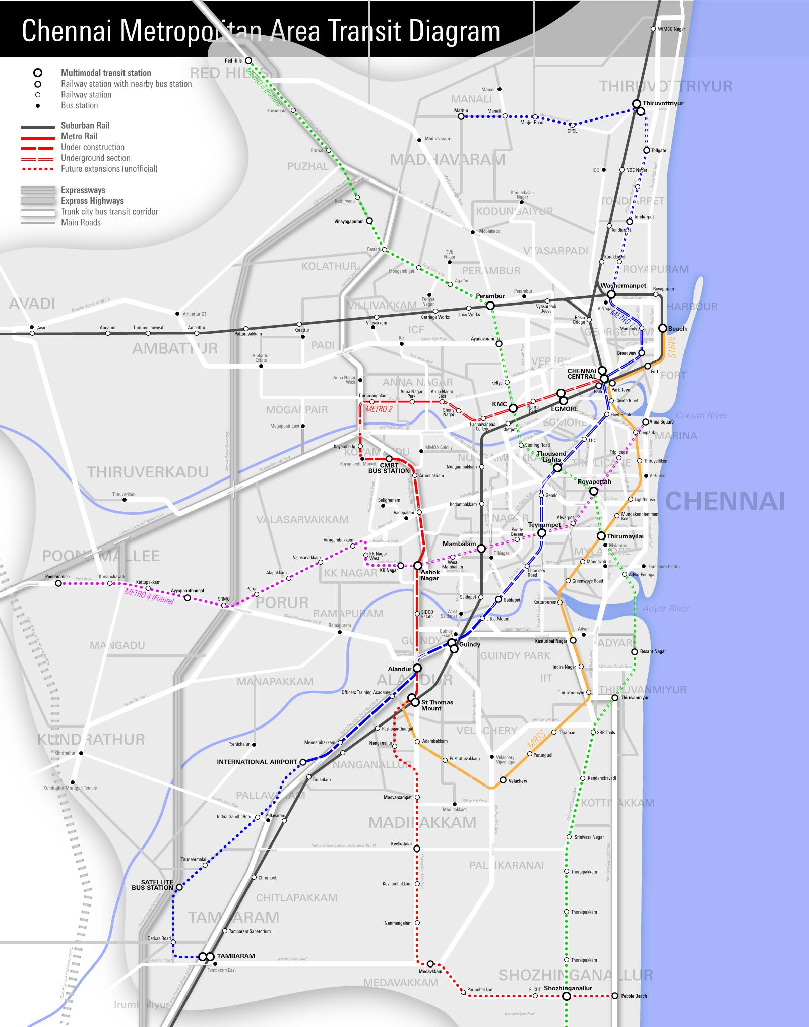 Chennai Metropolitan Area Map