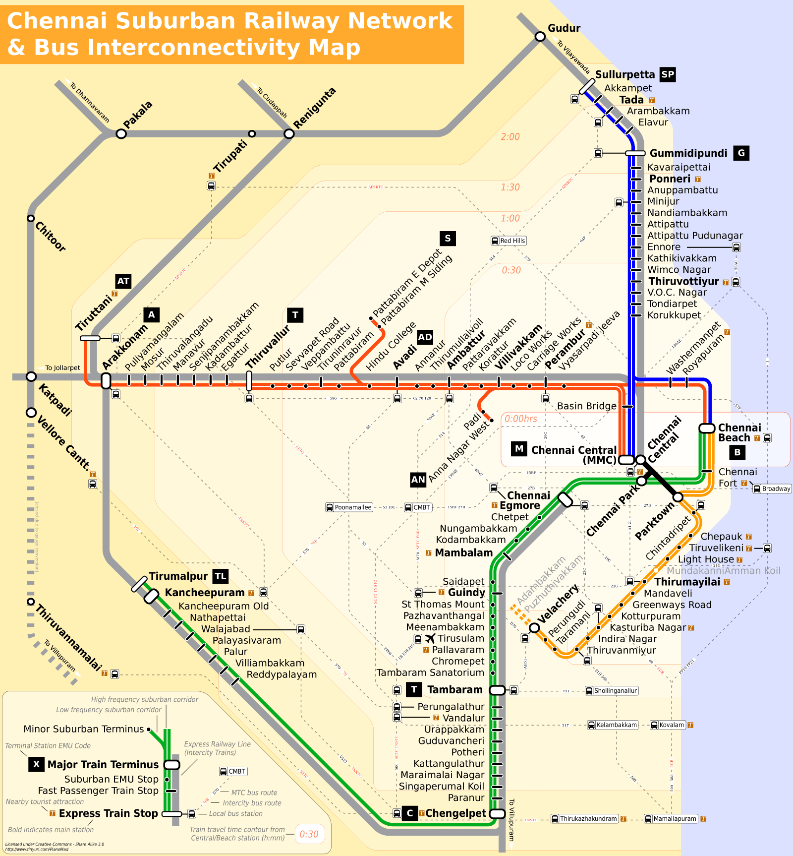 Chennai Railway Map