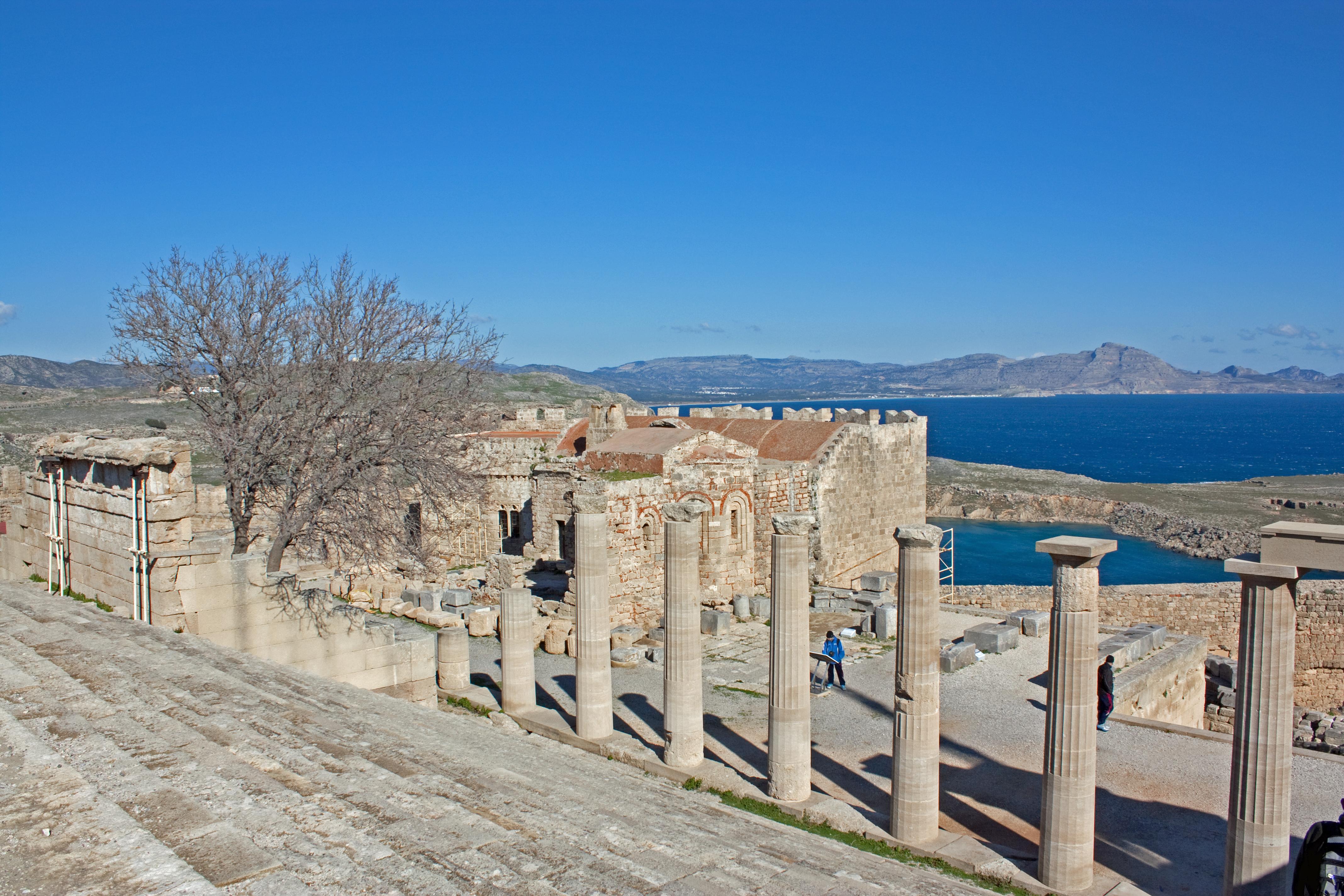 File:Church at the acropolis of Lindos 2010.jpg ...