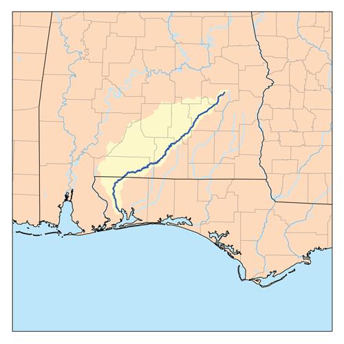 Florida Alabama Map.Conecuh River Wikipedia