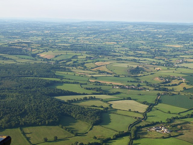 Country around Ashclyst Forest from the air - geograph.org.uk - 1388208
