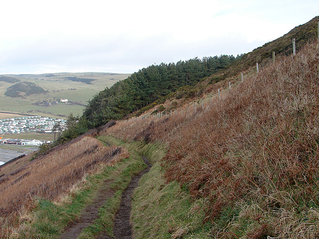 Descending towards Clarach Bay on the Ceredigion Coastal Path - geograph.org.uk - 1166634