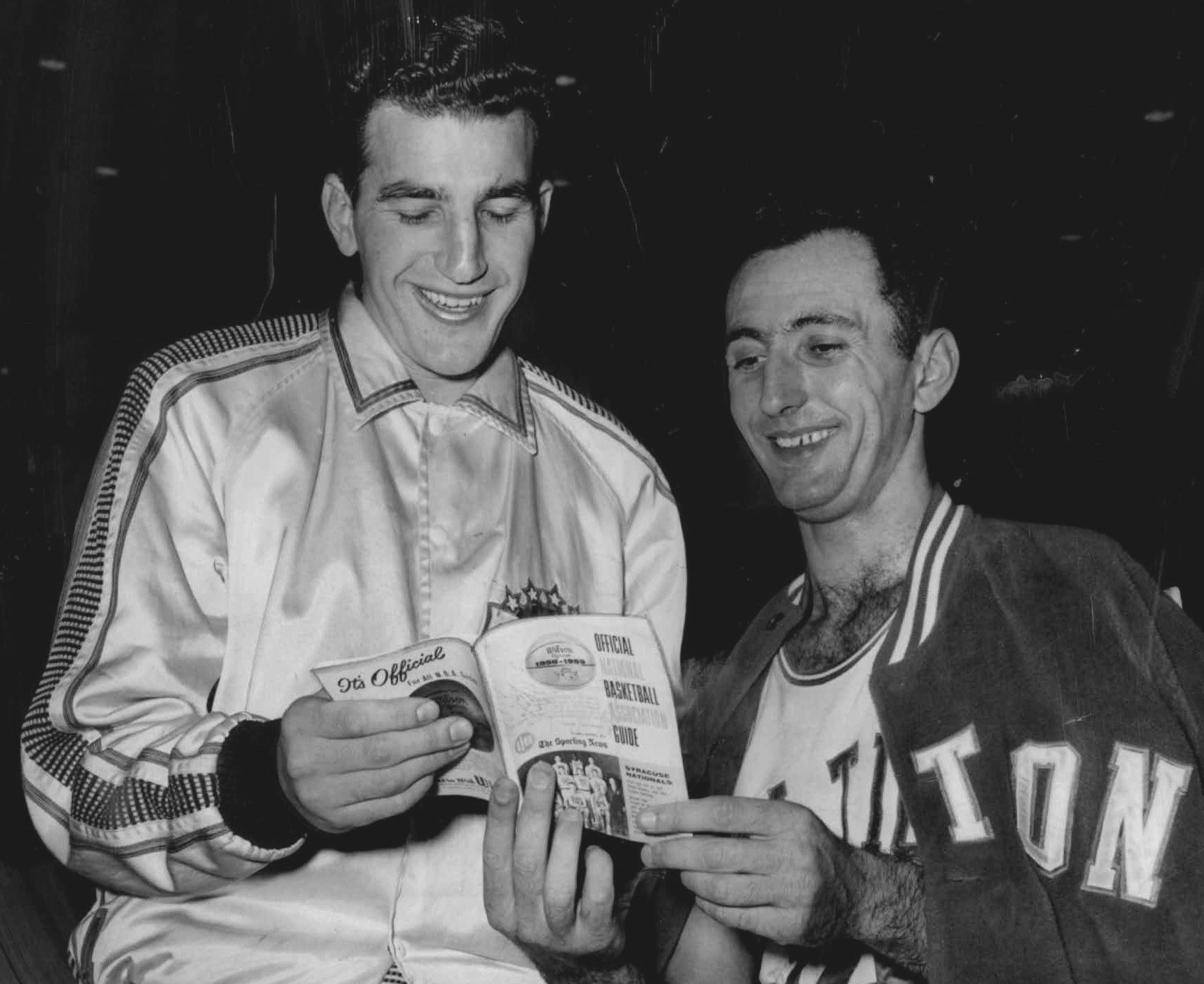 File Dolph Schayes and Bob Cousy Wikimedia mons