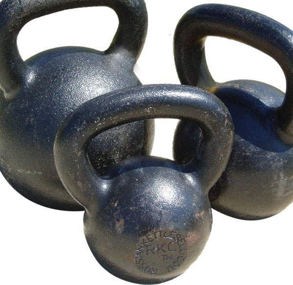 Dragon Door Kettlebells in Three Sizes