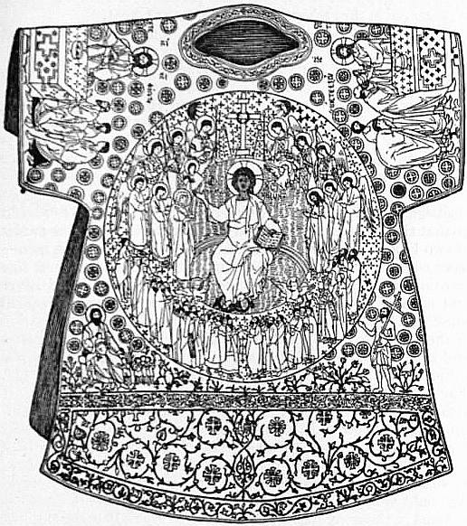 "EB1911 Embroidery - Fig. 4.—Embroidered robe known as the ""Dalmatic of Charlemagne"".jpg"