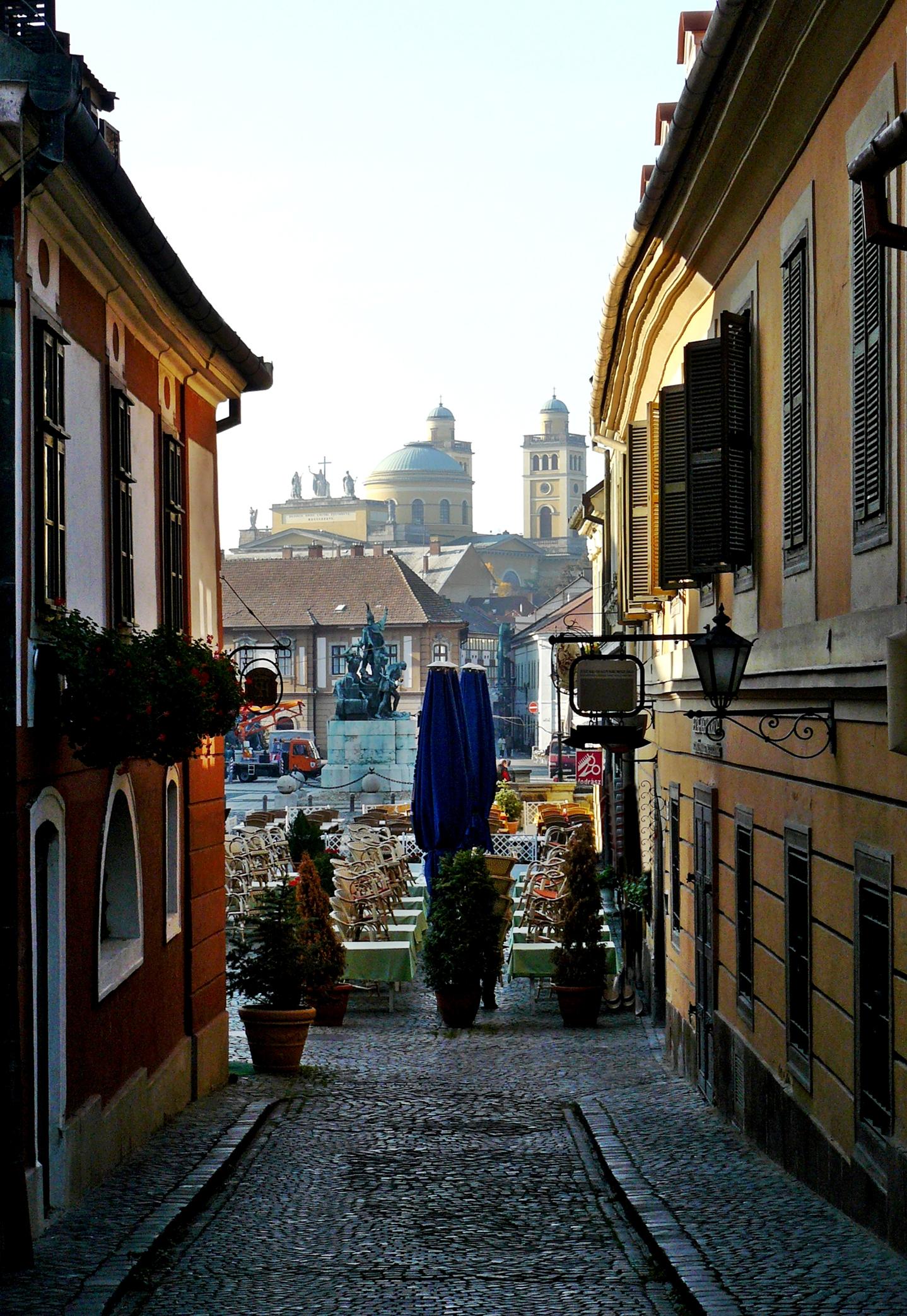 Medieval street in Eger