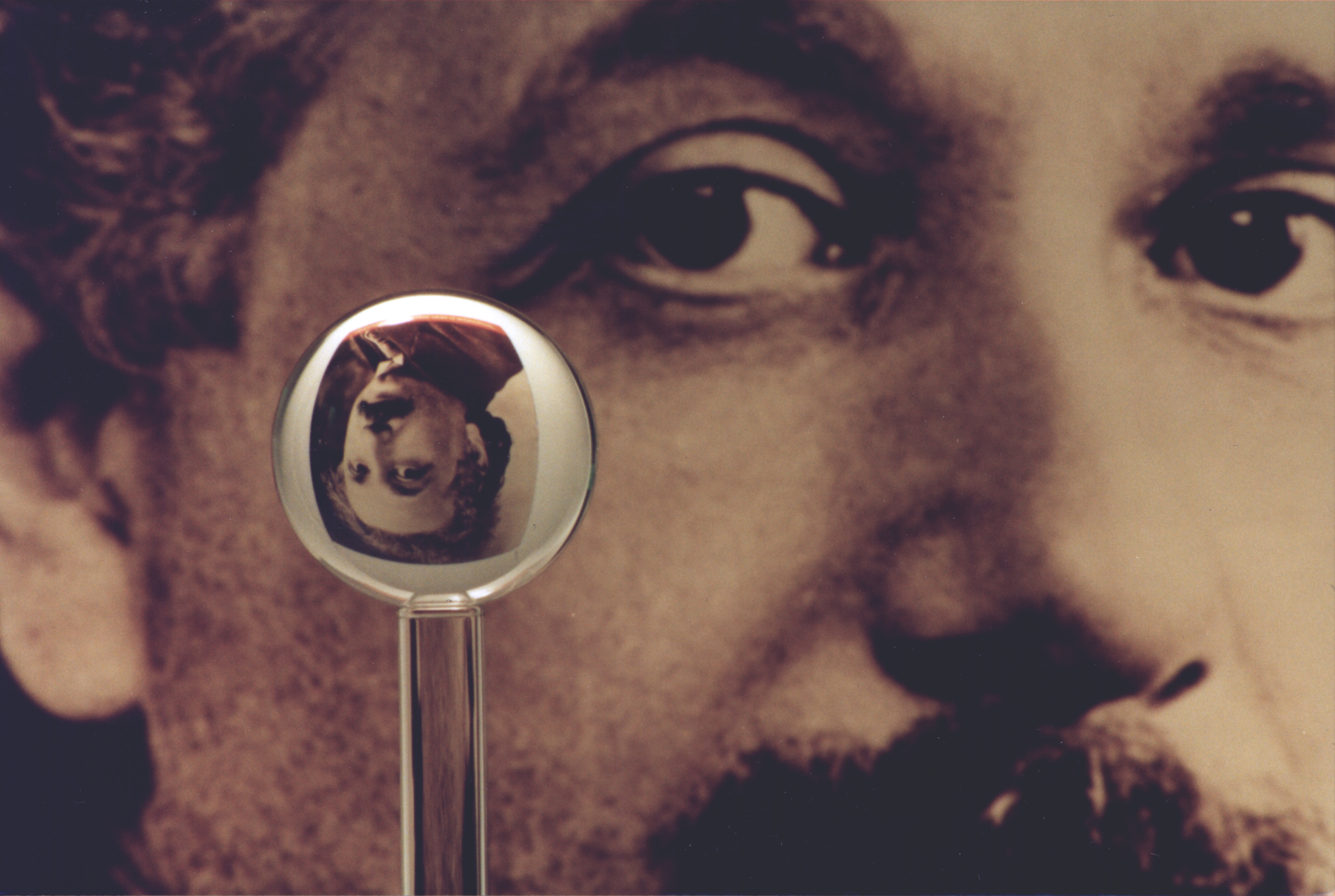 An Image Of One Of The Most Accurate Humanmade Spheres, As It Refracts The  Image Of Einstein In The Background This Sphere Was A Fused Quartz  Gyroscope
