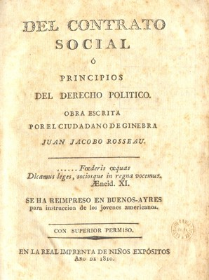 """English: Book """"The Social Contract"""" ..."""