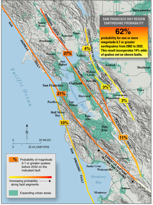 ClaytonMarsh CreekGreenville Fault Wikiwand - San andreas fault map bay area