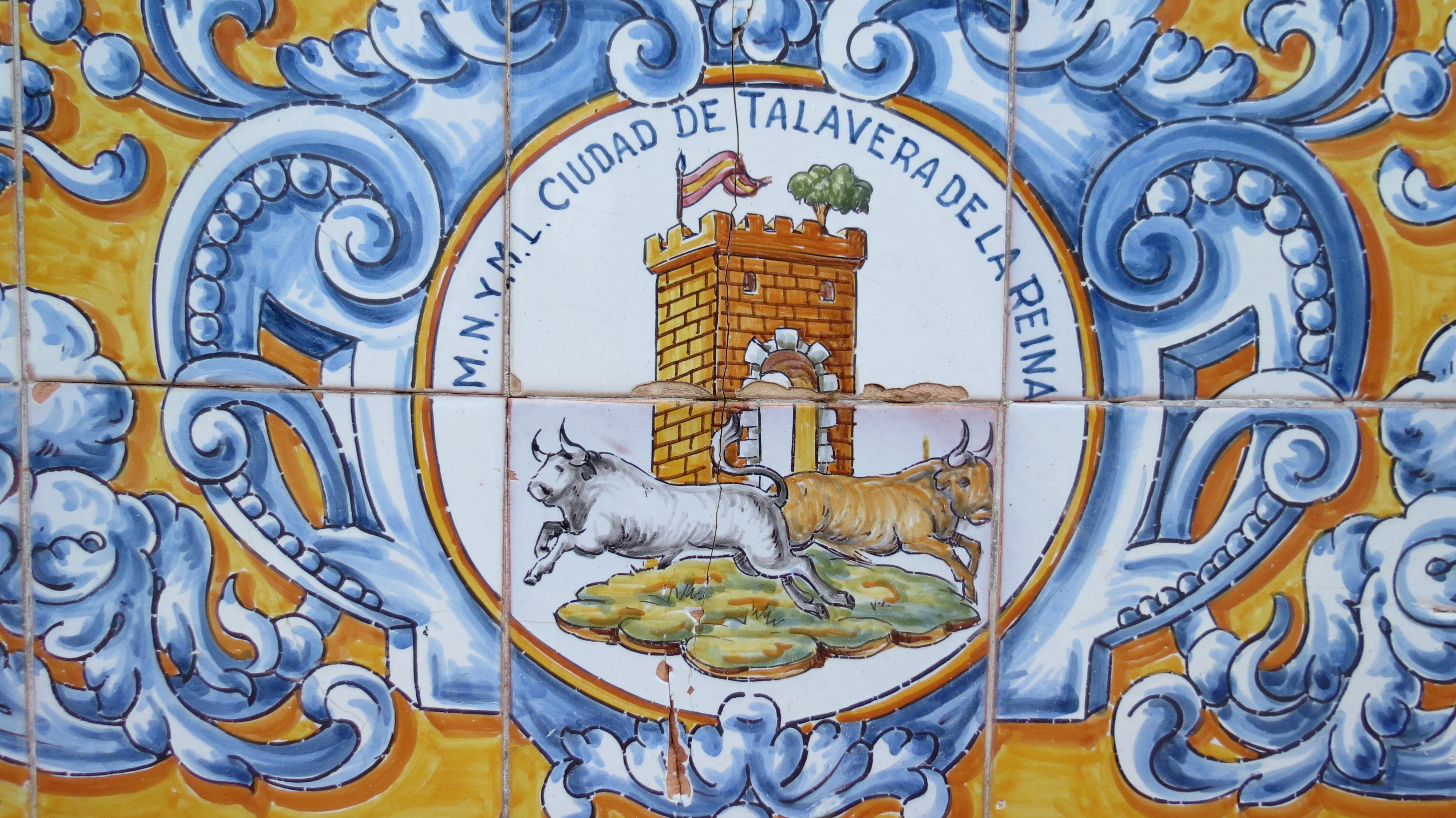 File escudo talavera en cer mica jpg wikimedia commons - Talavera dela reina ceramica ...