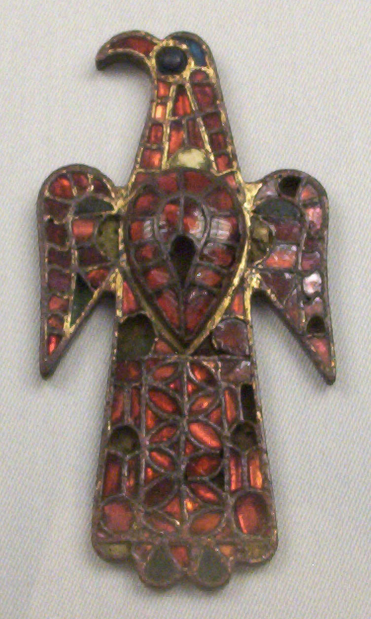 'Eagle Fibula', a typical example of the Polychrome style.