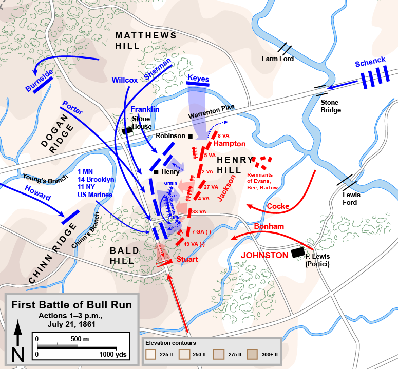 Mapping A Soldiers Journey Through The American Civil War - Us map of civil war battles