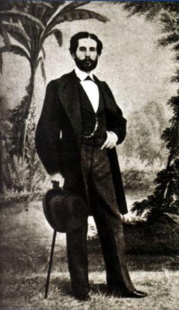 Daguerrotipo de Gustavo Adolfo Bécquer, por Jean Laurent (hacia 1865).