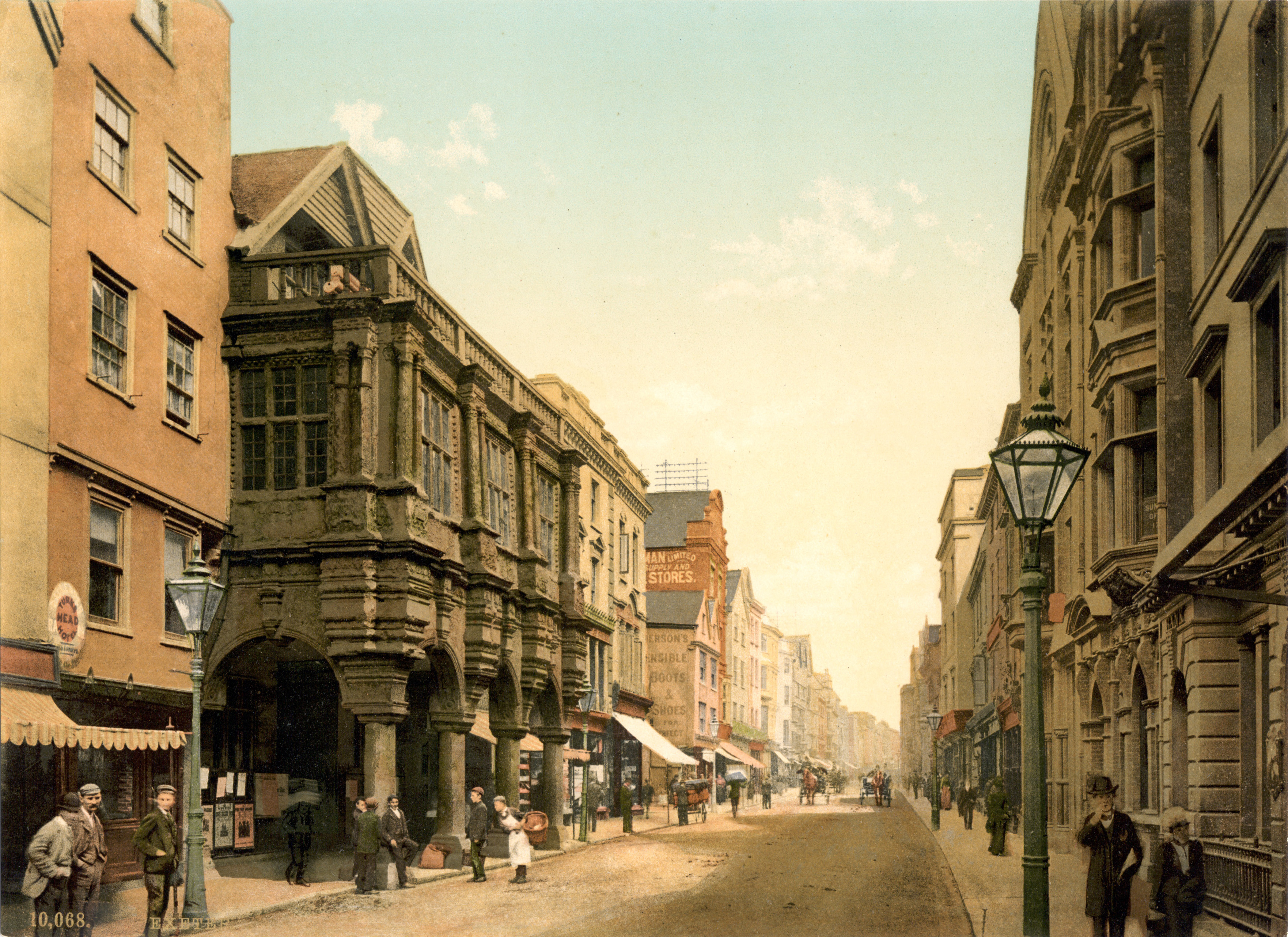 File High Street Exeter England Ca 1895 Jpg