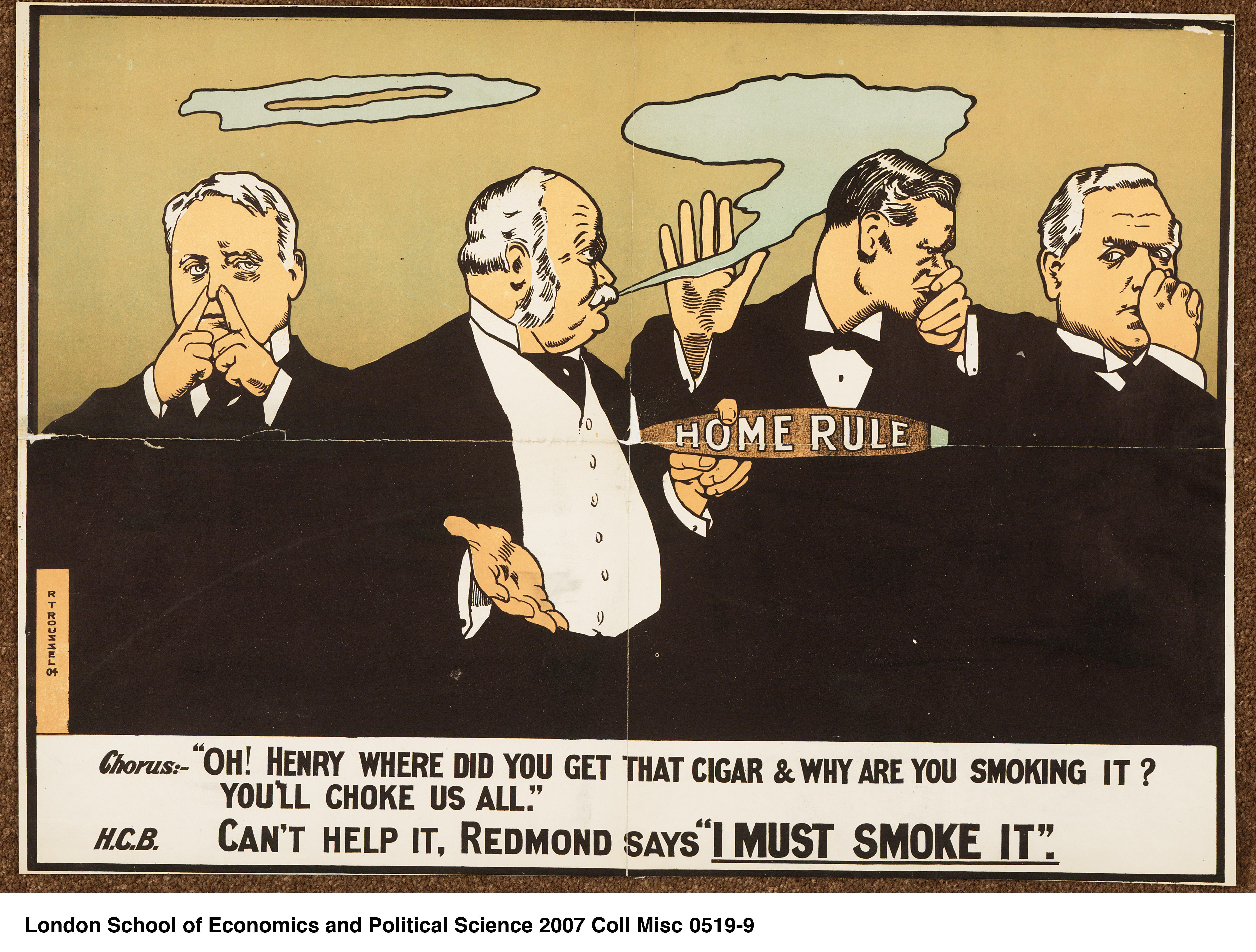 Original 'Maintain Retain' Ulster Unionist Election Political Poster British