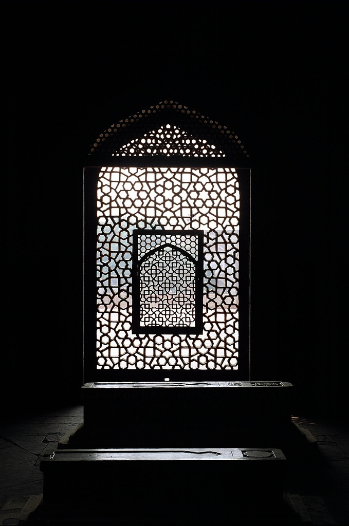 File jaali or marble lattice screen showing a mihrab from for Window design jali