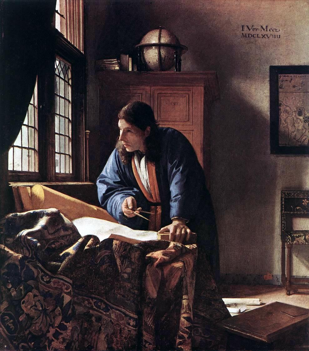 Jan Vermeer - The Geographer, 1668