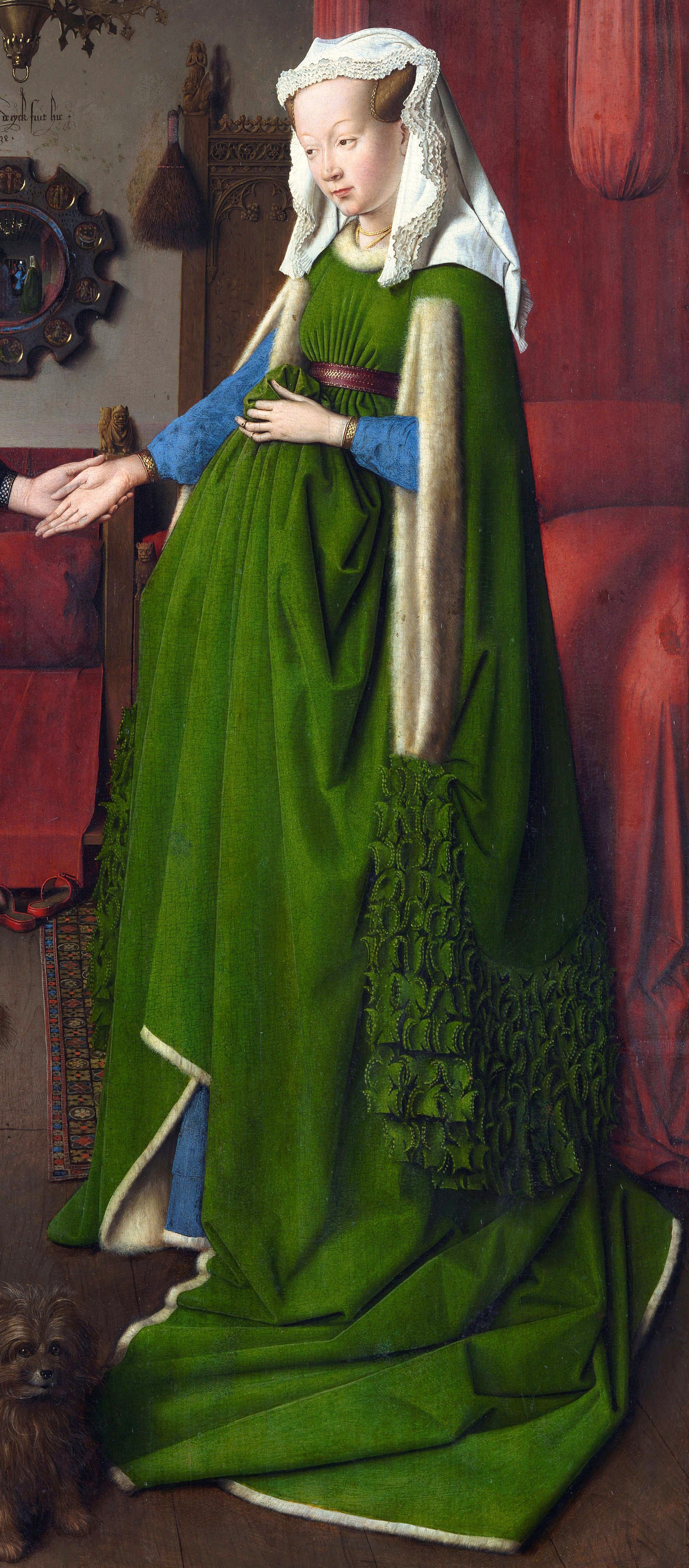 arnolfini wedding portrai 2013-06-17 the arnolfini portrait- jan van eyck context subject the painting is thought to be of giovanni di nicolao arnolfini, a merchant in belgium and his wife the setting of the painting is a well-appointed room, implying a level of.