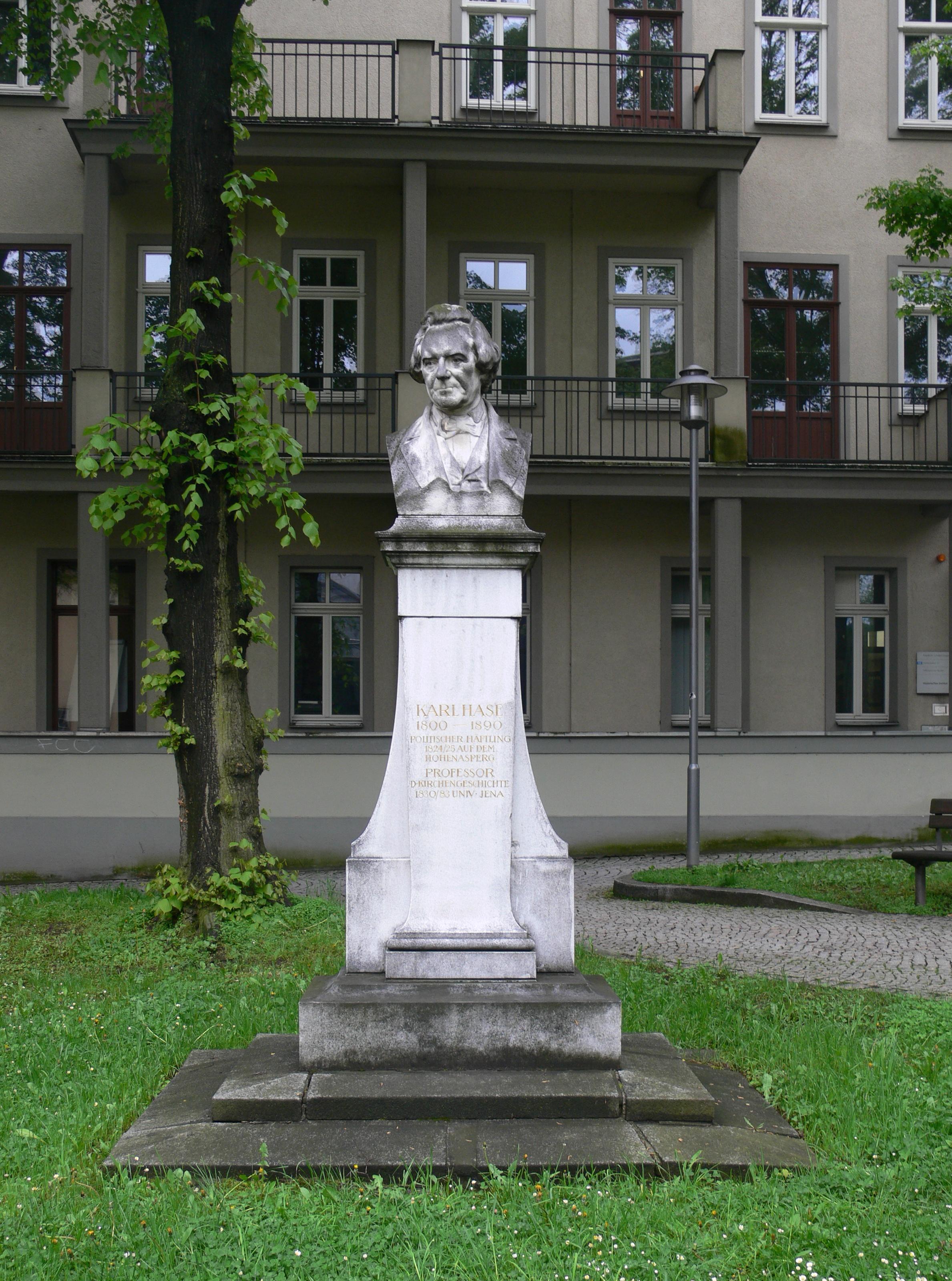 Hase Jena file jena fürstengraben denkmal karl hase 1 jpg wikimedia commons