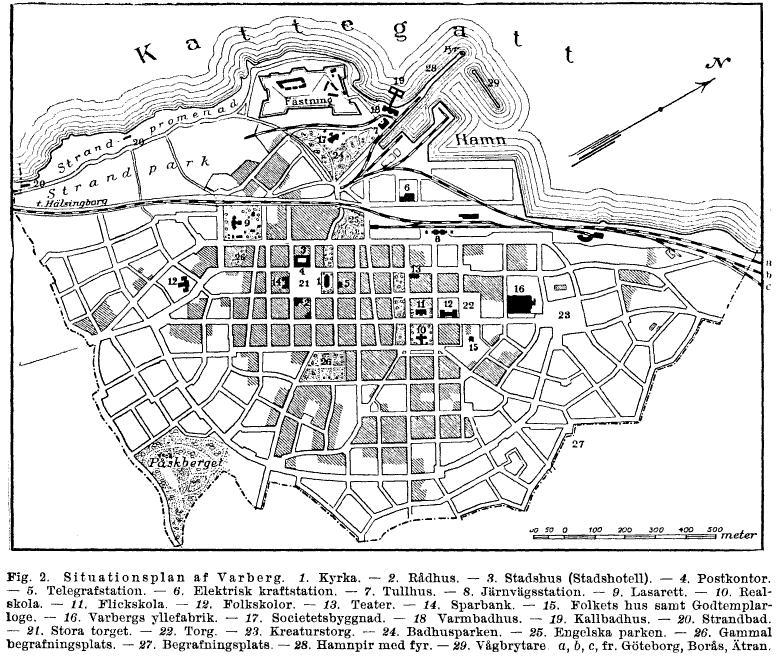 File Karta Over Varberg Ur Nordisk Familjebok Jpg Wikimedia