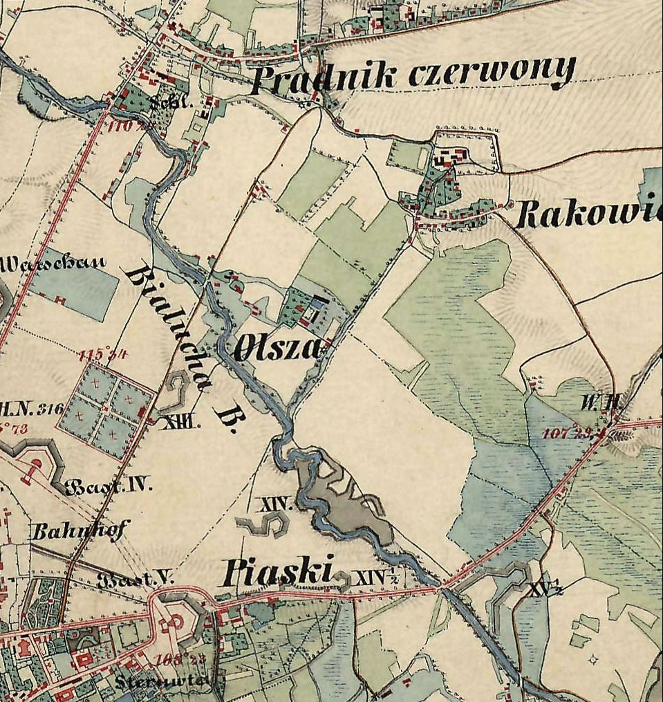 File Krakow Olsza Mapa Xix Wiek Jpg Wikimedia Commons