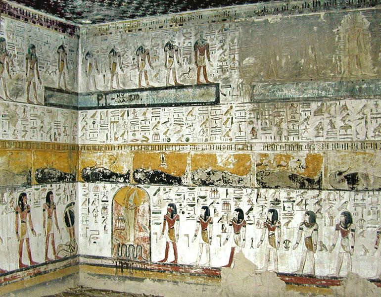 File:La tombe de Sethi 1er (KV.17) (Vallée des Rois, Thèbes ouest) - 2.jpg  - Wikimedia Commons