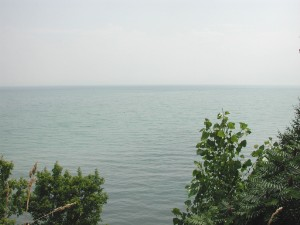 Lake Erie, looking southward from a high rural...