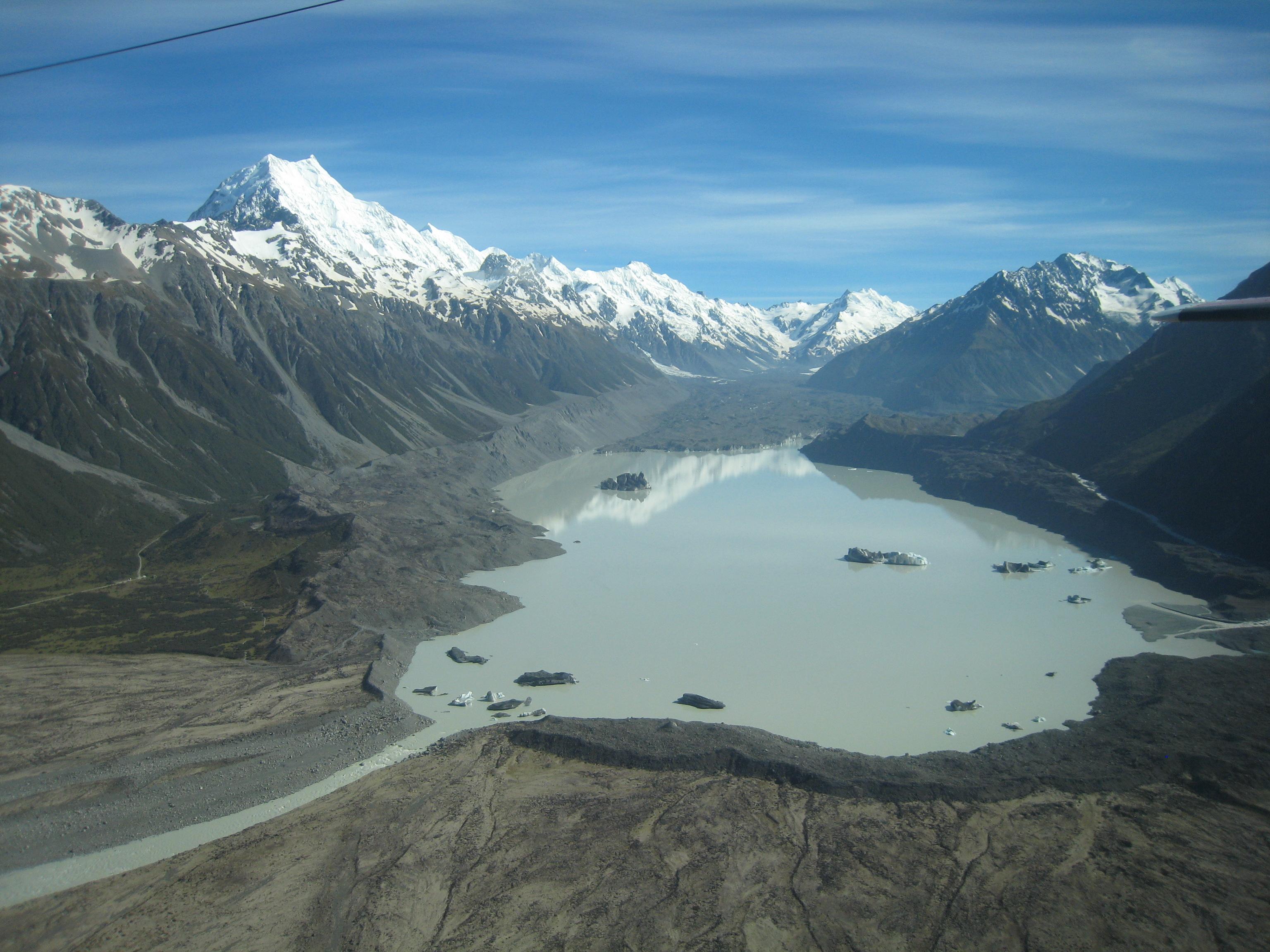Фотография озера Тасман и горы Кук (2009)