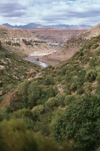 Makhaleng River Gorges in the Highlands of Les...