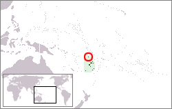 Location of Rotuma in Polynesia.