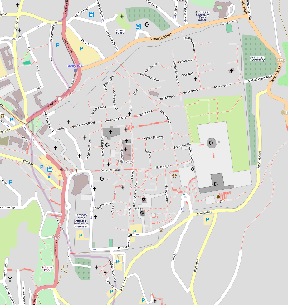 File Location Map Jerusalem