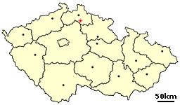 Location of Czech city Turnov