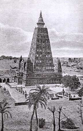 The temple as it appeared immediately after its restoration