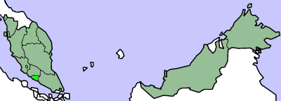 Map of Malacca (state)